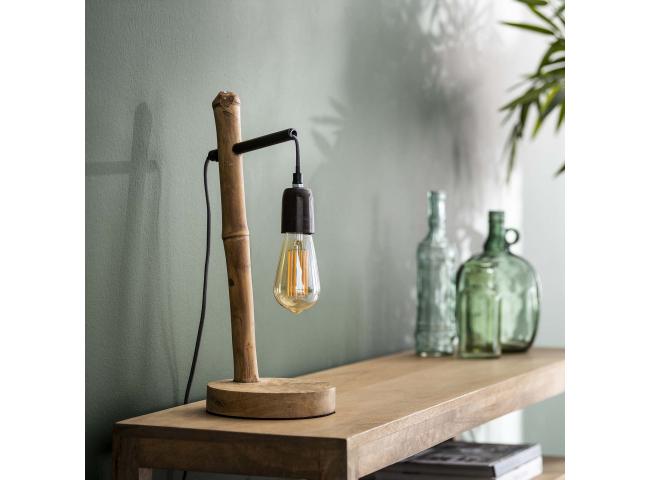 Tafellamp BAMBOO - Hout/metaal