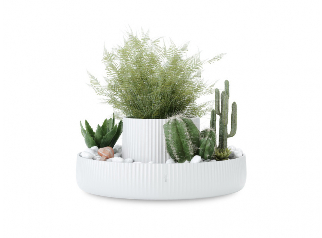 Plantenpot FOUNTAIN - Wit kera