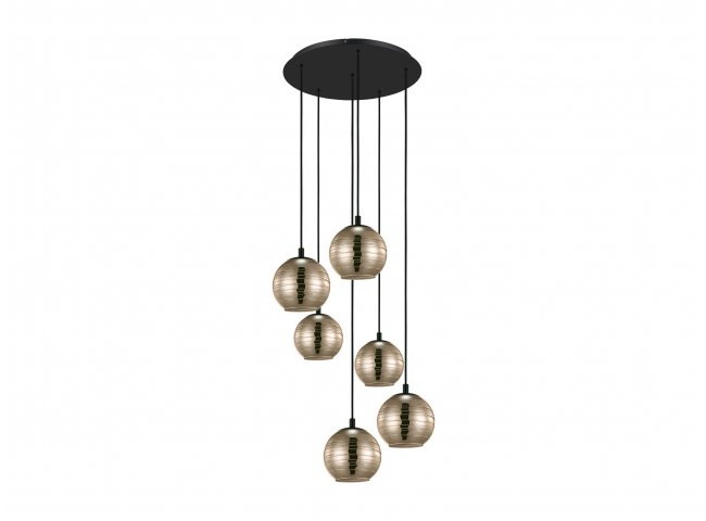 Hanglamp LEMORIETA 6x - Glas g