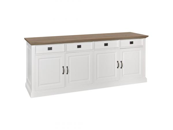 Kast dressoir oakdale pure white wit deba meubelen