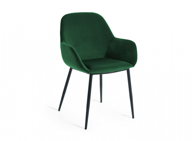 Armstoel KONNA - Groen velvet