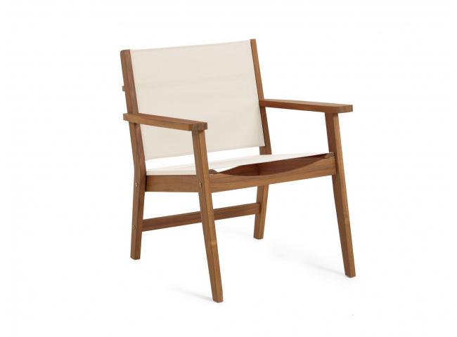 Loungestoel HILDA - Acacia/gro