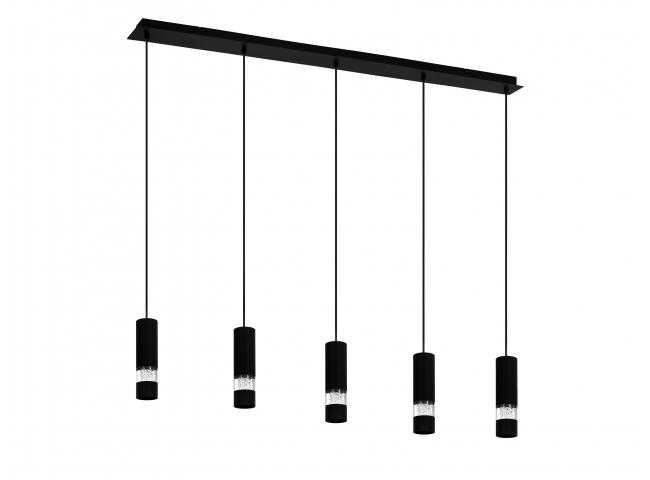 Hanglamp BERNABETA 5x - Zwart