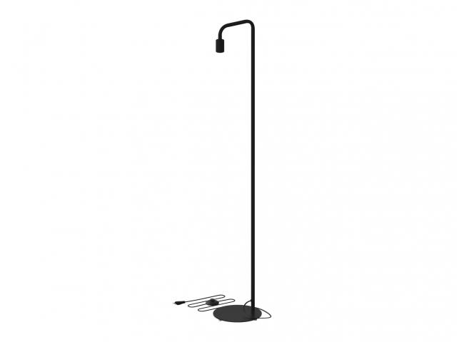 Vloerlamp U-LINE - Zwart metaa