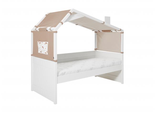 Bedbank met hut RAINBOW - Wit
