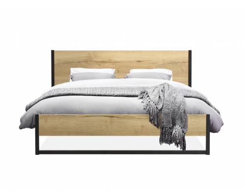 Bed BERLIJN - Hout/metaal