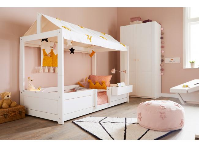 4-in-1 bed met dakconstructie/