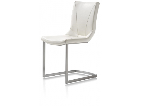 Witte Eetkamer Stoel : Eetkamerstoel arthur wit wit deba meubelen