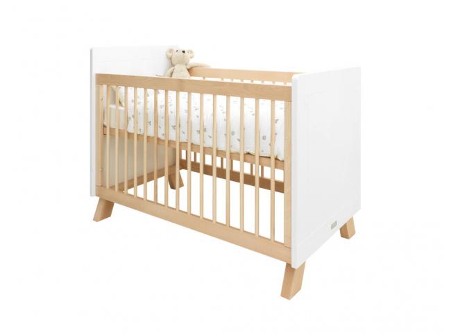 Babybed LISA - Wit/naturel