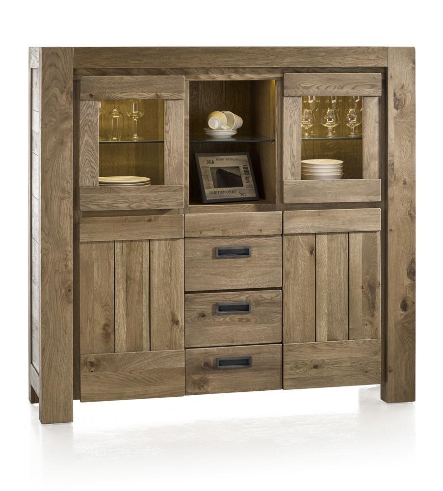 Hoge Kasten Woonkamer : Kast hoge dressoir incl led santorini castle sand hout deba