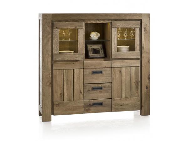 Hoge Kast Woonkamer : Kast hoge dressoir incl. led santorini castle sand hout deba