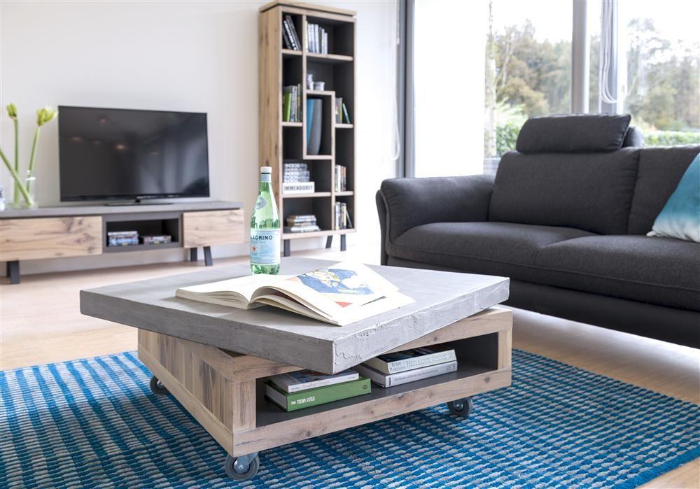 Vintage Woonkamer Meubels : Tv meubel myland kleur vintage white concrete charcoal