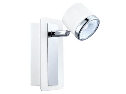 Spot 'Pierino 1' - kleur: Wit/chroom