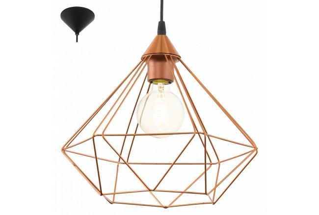 Hanglamp 'Tarbes' - kleur: Koper