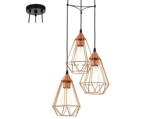Hanglamp 'Tarbes' - kleur: Zwart