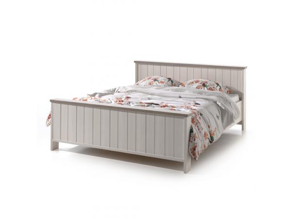 Hoog Bed 140x200.Bed 140x200 York Lariks Cristal Oak Beige Wit Deba Meubelen