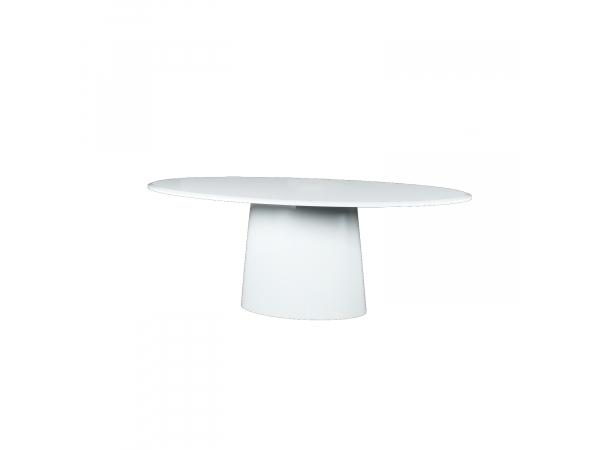 Ovalen Witte Eettafel.Eetkamertafel Ovaal Wit
