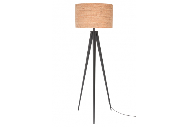 Tripod cork vloerlamp