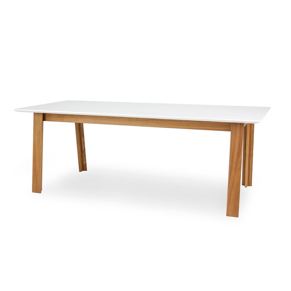 Eetkamertafel Uitschuifbaar Wit : Uitschuifbare eetkamertafel profil white oak wit deba meubelen