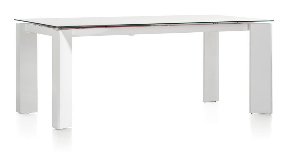 Eetkamertafel Uitschuifbaar Wit : Toonzaalmodel uitschuifbare tafel kozak cm wit deba