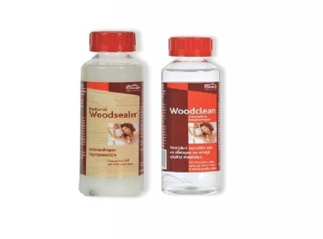 Natural Woodsealer + Woodclean '' - kleu