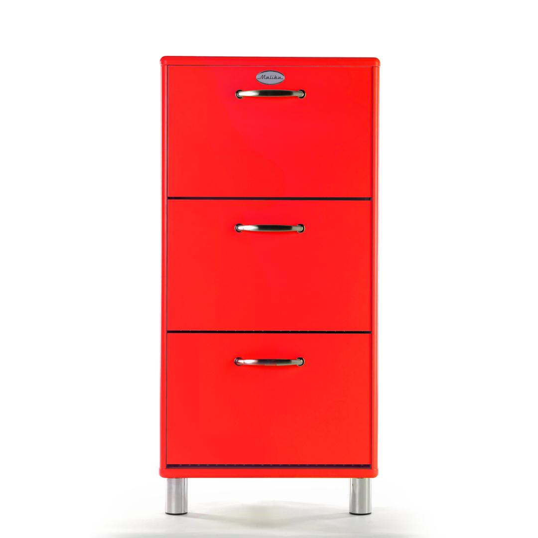 Malibu Kast Rood : Kast schoenenkast malibu rood rood deba meubelen