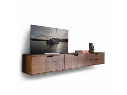Tv-dressoir hangend 'Sirena' - kleur: Ei