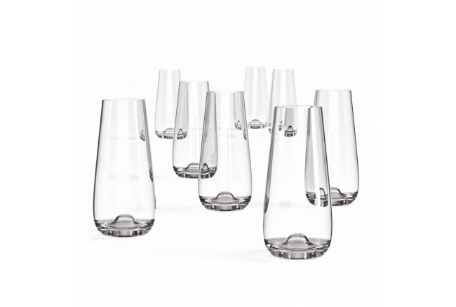Set van 8 champagneglazen