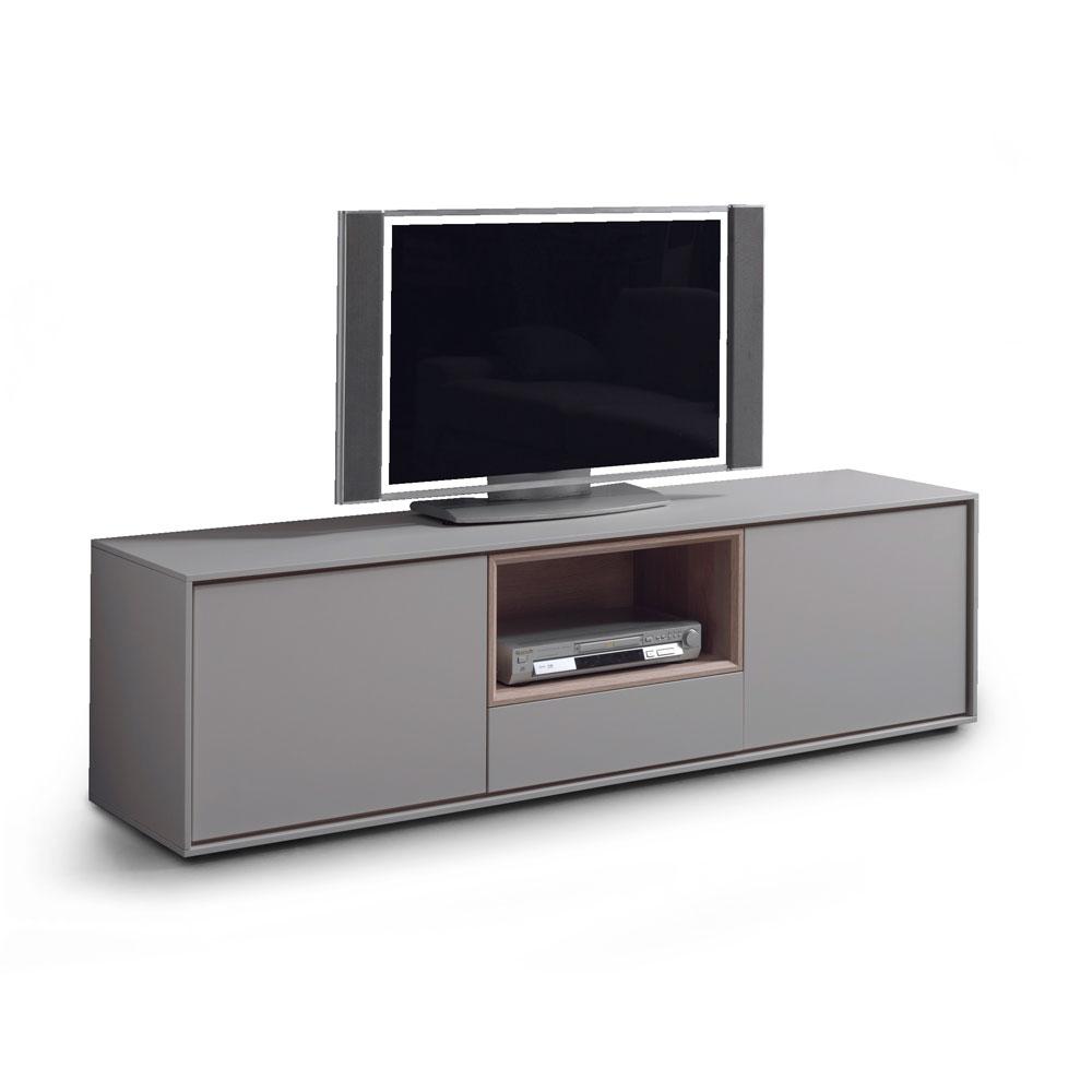 Tv Meubel Afmetingen : Tv meubel kyara kleur eik eik grijs deba meubelen