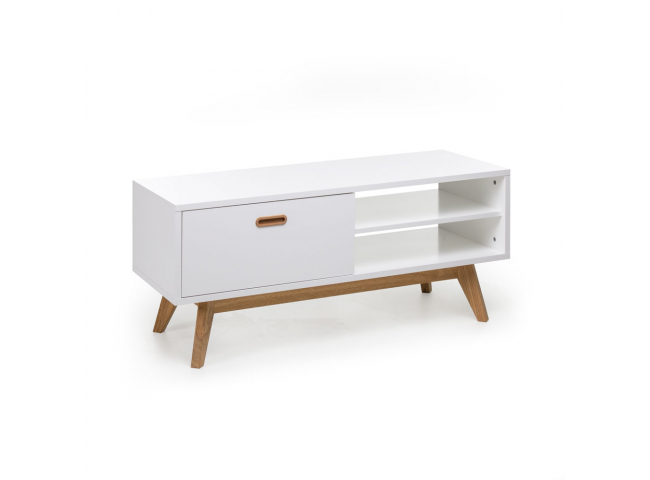 Tv-meubel 'Bess' - kleur: Wit/eik