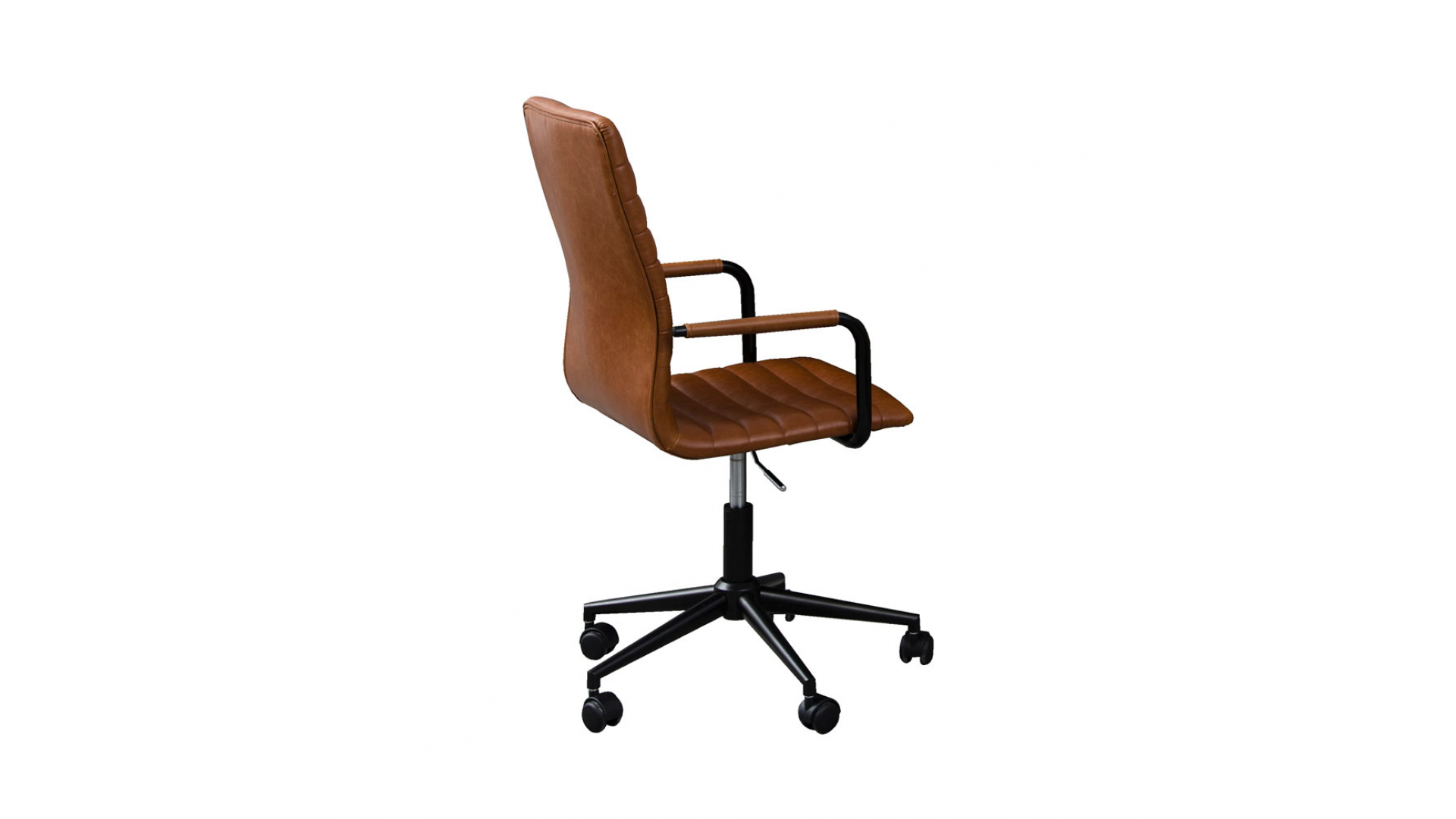 Vintage Design Bureaustoel.Bureaustoel Winslow Leather Look Vintage Brandy Bruin Deba