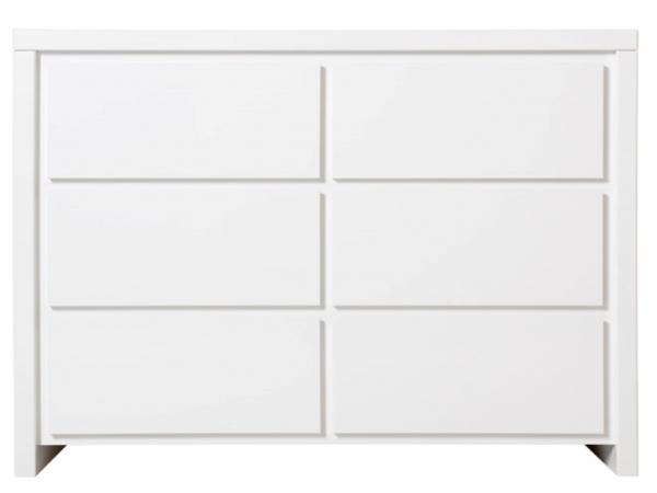 Witte Commode Slaapkamer : Commode 6 laden camille kleur: wit wit deba meubelen