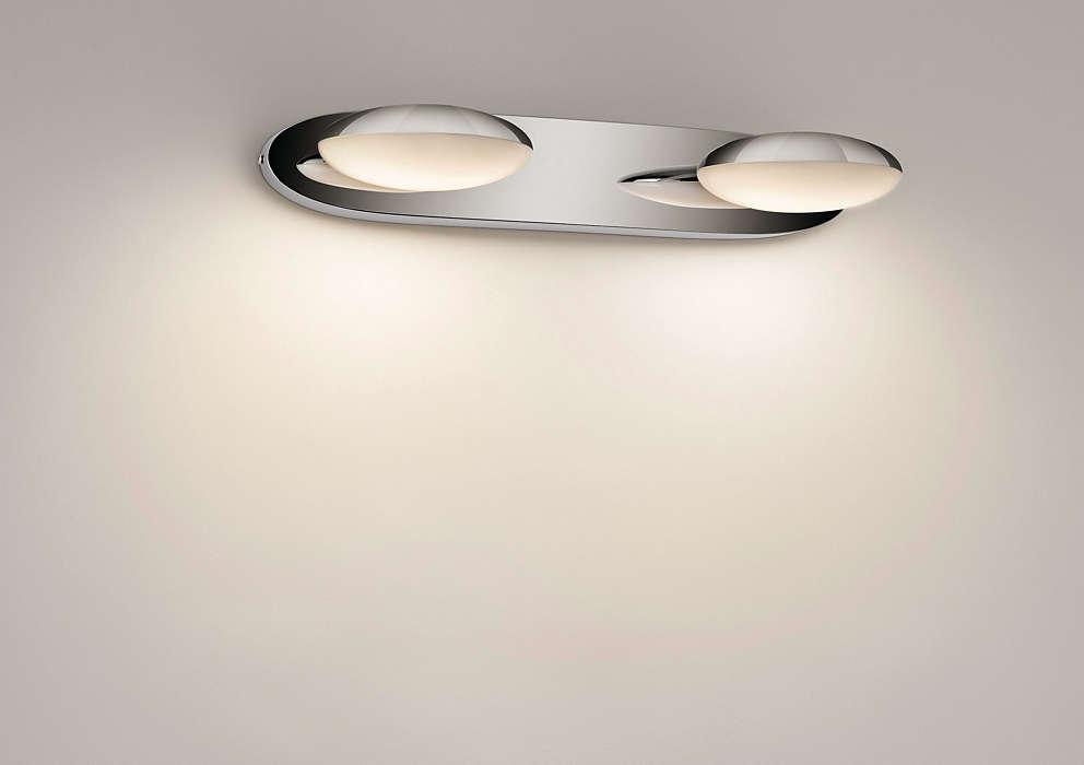 Tot einde voorraad wandlamp badkamer chroom deba meubelen