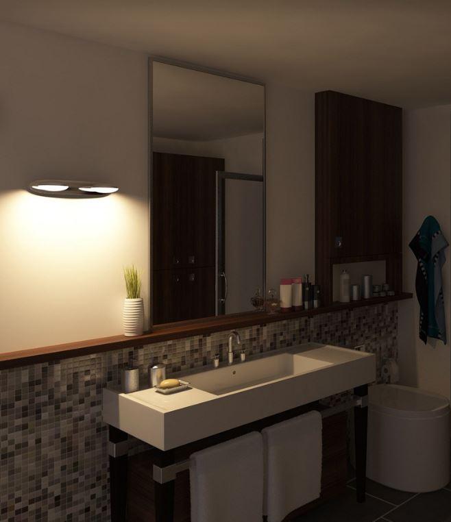 Design Wandverlichting Badkamer : Tot einde voorraad wandlamp badkamer chroom deba meubelen