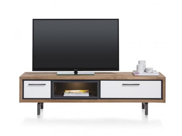 Gesloten Tv Kast : Tv dressoir incl. led otta kleur: tramwood smoke hout deba