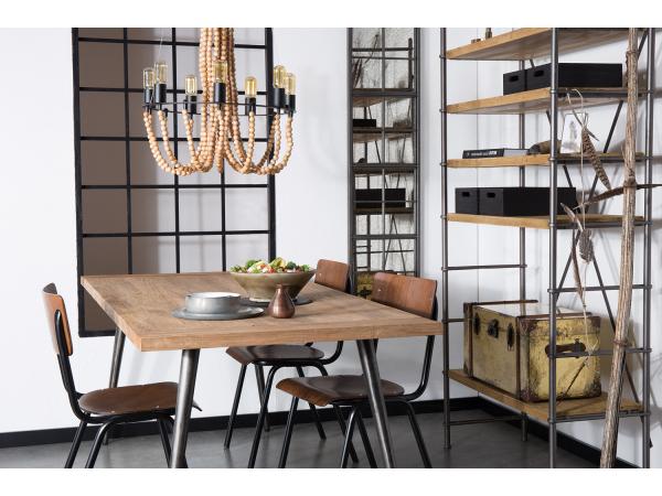spiegel vintage window vintage look zwart deba meubelen. Black Bedroom Furniture Sets. Home Design Ideas
