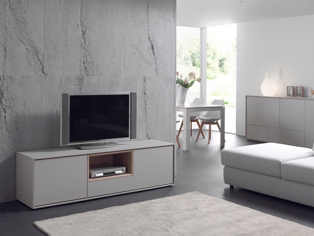 Woonkamer Tv Kast : Tv meubel kyara eik eik grijs deba meubelen