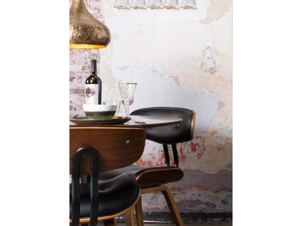Dutchbone Stoel Blackwood : Eetkamerstoel blackwood walnut bruin deba meubelen