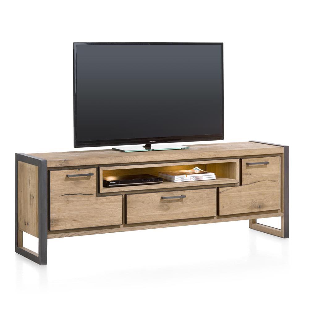 Tv Meubels Hout : Tv meubel wit zwart aanbieding online outlet